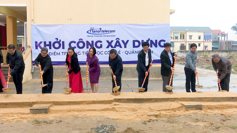 Lễ khởi công xây dựng Trường tiểu học Cồn Sẻ, xã Quảng Lộc.